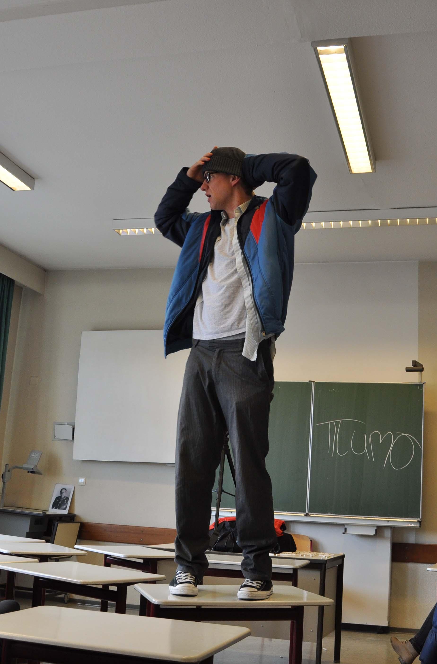 Probe im Klassenzimmer