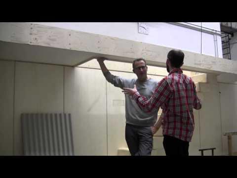 In der Werkstatt wachsen Bühnenwelten; Video: Theater Heilbronn