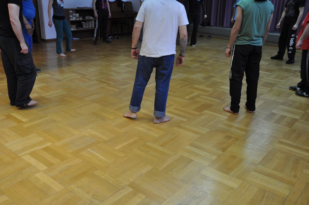 Tanzprobe in der JVA Foto: Silke Zschäckel
