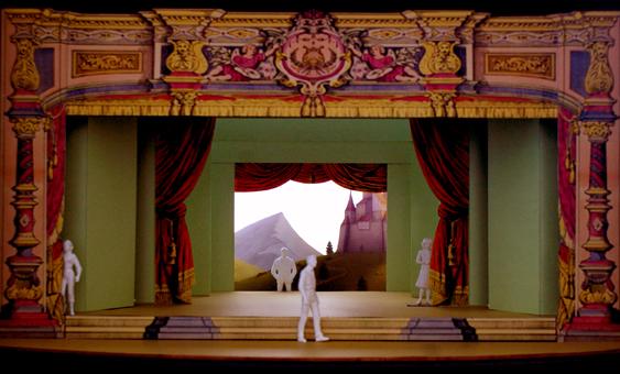 """Bühnenmodell """"König Drosselbart"""" von Tom Musch"""