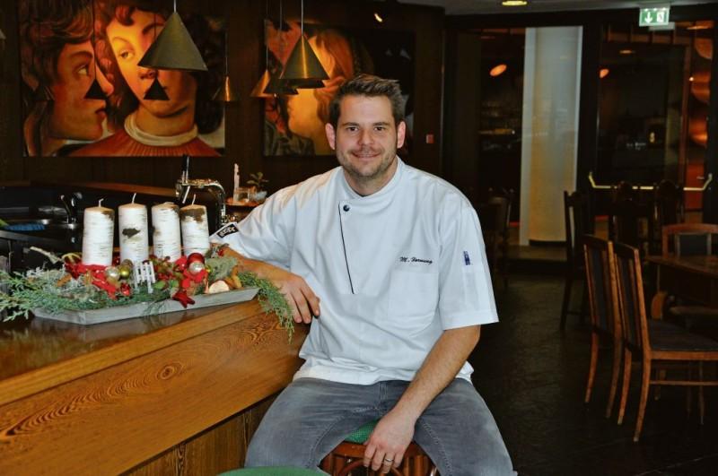Matthias Hornung im Theaterrestaurant Gaumenspiel